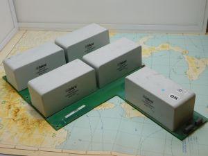 200MF 1000Vdc capacitor ISKRA KNG1914 MKP , metallized polypropylene ( n.5pcs. on pcb)