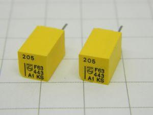 205pF 63V 1%  precision capacitor PHILIPS KS Stiroflex  (n.2pcs.)