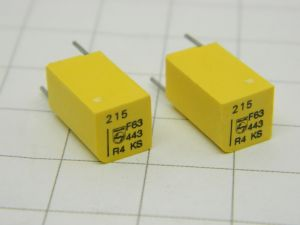 215pF 63V 1%  precision capacitor PHILIPS KS Stiroflex  (n.2pcs.)