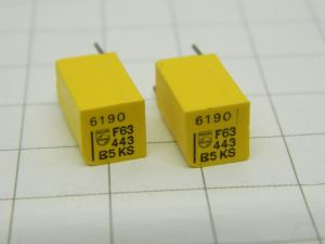 6190pF 63V 1%  condensatore di precisione PHILIPS KS Stiroflex  (n.2 pezzi)