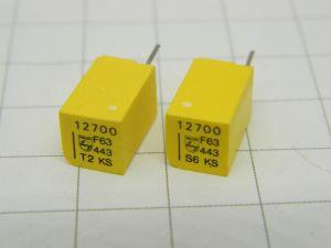 12700pF 63V 1%  precision capacitor PHILIPS KS Stiroflex  (n.2pcs.)