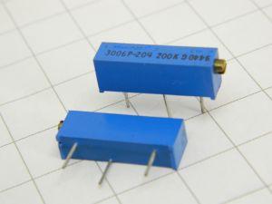 Trimmer BOURNS Trimpot 3006P-204  200Kohm  15 giri  (n.2 pezzi)