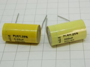 0,22MF 63V  1,25%  high stability capacitor M.C.E. PLR  (n.2pcs.)