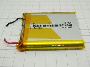 BATTERIA RICARICABILE LITIO  955465  LI-PO 3,7V 5.000MA/H 18,5WH DRONE , MODELLISMO