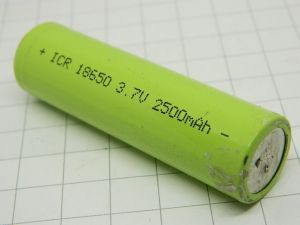 Batteria ricaricabile al Litio Li-Ion tipo 18650 3,7V 2.500mAh   professionale