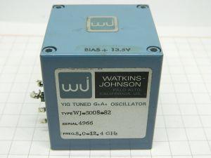 Watkins Johnson YIG tuned Ga As oscillator WJ-5008-82  8-12,4Ghz