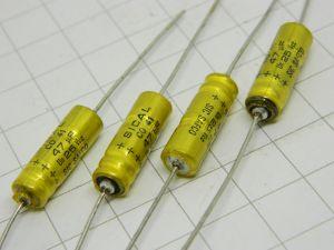 47uF 25Vcc condensatore elettrolitico assiale SIC-SAFCO  (n.4 pezzi)