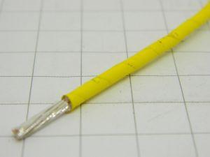 Cavo 1xAWG12  PTFE  teflon giallo rame OFC  argentato 2micron