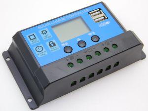 Regolatore per pannello solare 12/24V  20A  2 uscite USB