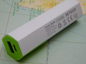 Power bank  2500mAh  carica batterie 5Vcc  connettore micro USB