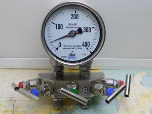 WIKA differential pressure gauge 1104ZNY manometro differenziale 0-400 mBAR con valvola SAMI