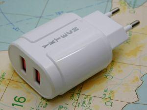 Battery charger  220Vac -5Vdc 2A max.  2 USB