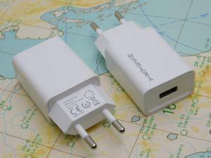 Carica batterie rapido Li-ion  J305  220Vac -5Vcc 2,4A   uscita USB
