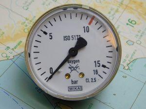 Manometro WIKA 15BAR  ISO5171 diam. 63