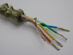 Shielded cable 4xAWG22 PTFE teflon tin coated