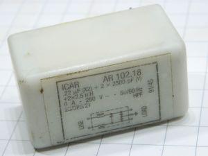 Filtro rete antidisturbo EMI  ICAR AR102.18  6A 250Vac 50/60Hz  circuito stampato