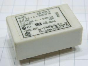 Filtro rete antidisturbo EMI  ICAR AR102.3  4A 250Vac 50/60Hz  circuito stampato