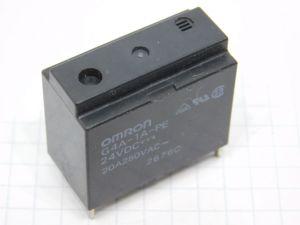 OMRON G4A-1A-PE relè 24Vcc 20A  1 contatto N.O. da circuito stampato.
