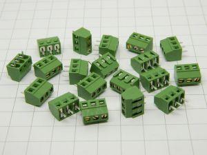 Morsettiera da circuito stampato 3pin passo 3,81 DINKLE EK381V-03P (n.20 pezzi)