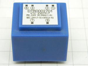 Pcb transformer 220V/24V+30V 2,2VA