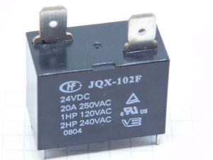 Relay  JQX-102F  coil 24Vdc  contact  n.o. 20A