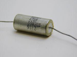 47uF 35V condensatore al tantalio assiale KEMET T110