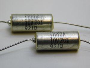 100uF 10V  condensatore al tantalio assiale  KEMET T110 (n.2 pezzi)