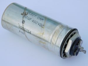 50MF 450Vdc capacitor Mallory , vintage 1976