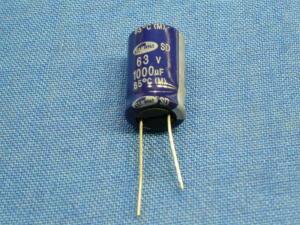 1000uF 63V n.10 Condensatori elettrolitici
