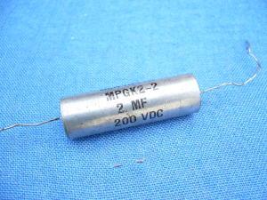 2MF 200Vcc Condensatore carta-olio General Instruments