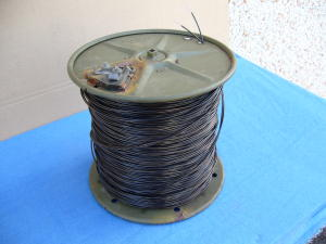 Field telephone cable WD-ITTDR-8 ,  2x1 mm. reel mt.450