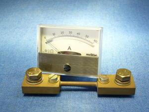Amperometro Metrix 60 Adc 60x45 completo di shunt