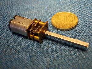 Motore con riduttore 3-6Vcc 70rpm miniaturizzato