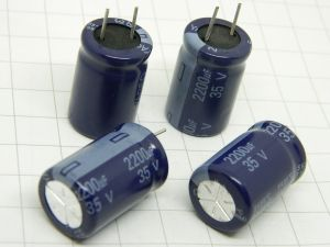2200uF 35V Condensatore elettrolitico YAGEO  24x16  (N.4 PEZZI)