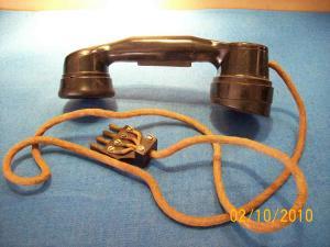 Antica cornetta telefonica Inglese handset 1940 originale