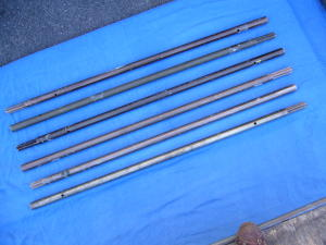 Kit 6 pali innestabili in alluminio