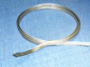 Flexible copper tinned ribbon.