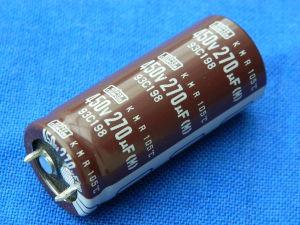 270MF 450V capacitor Nippon Chemi-Con  KMR 105° snap-in