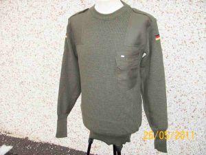 Maglione pullover lana verde oliva